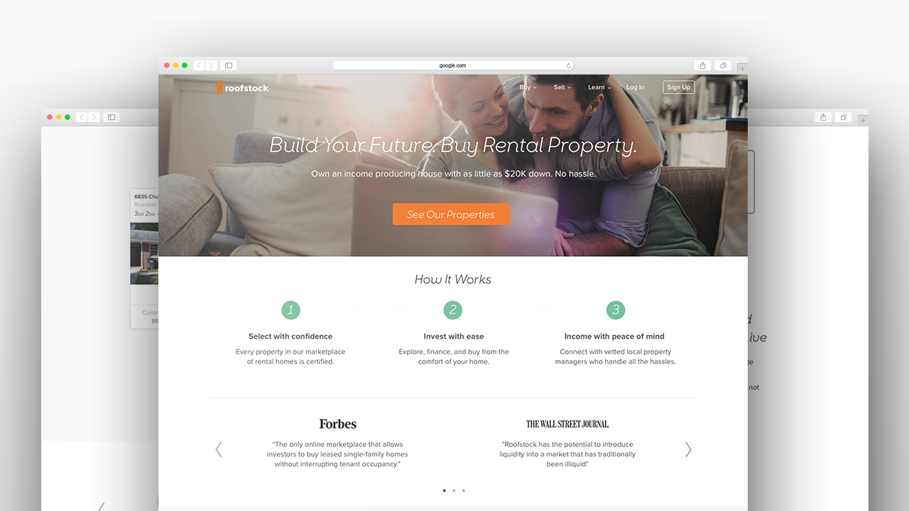 Roofstock Home Page Redesign » 3.6.75 Design
